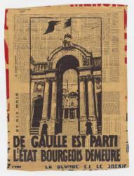 De Gaulle est parti. L'état bourgeois demeure