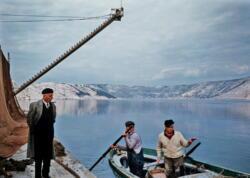 Fishermen on Lake Vransko, Croatia