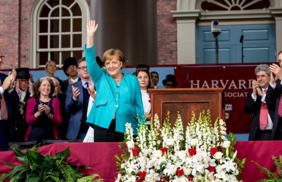 Merkel advises graduates: Break the walls that hem you in