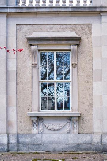 Window Adulphus Busch Hall CES Harvard